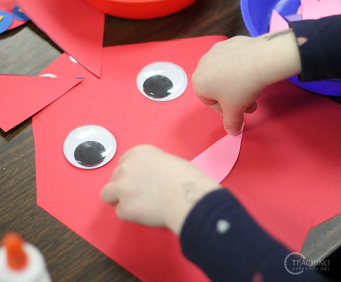 Love Monster Counting Craft for Preschoolers