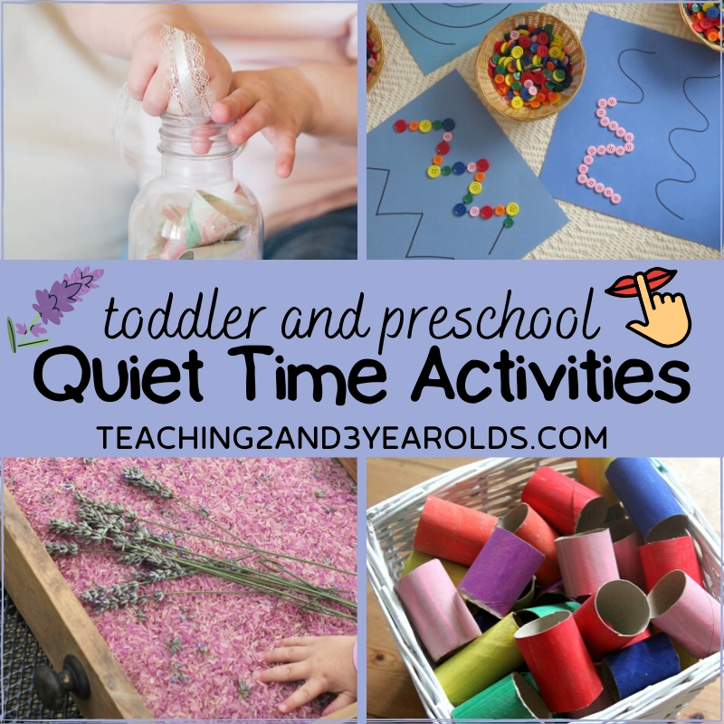 How to Put Together Quiet Time Activities for Toddlers and Preschoolers