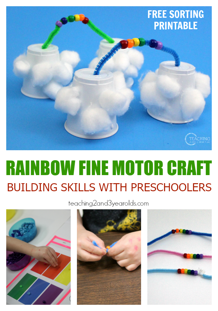 Fine Motor Rainbow Craft for Preschoolers