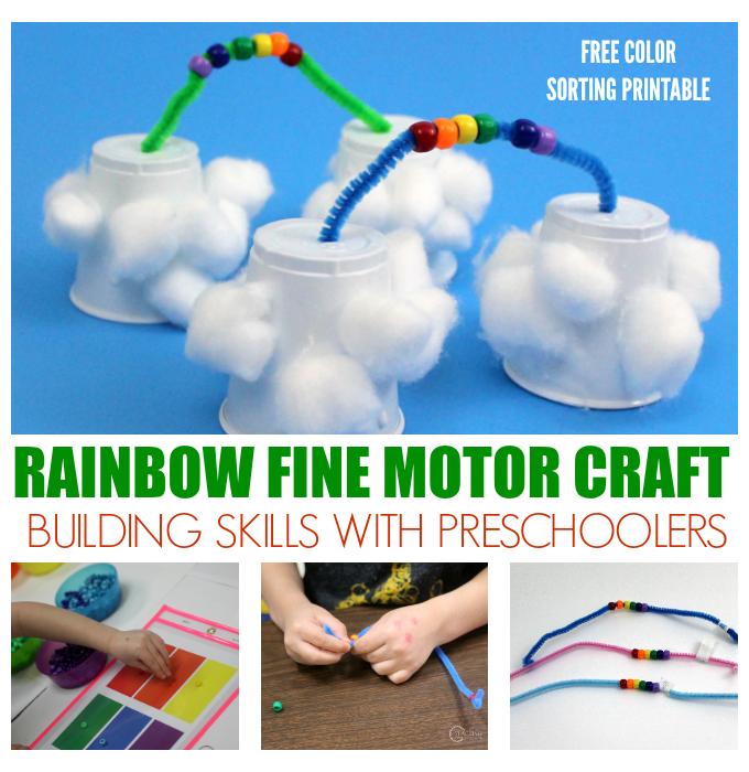 Fine Motor Rainbow Craft for Preschoolers
