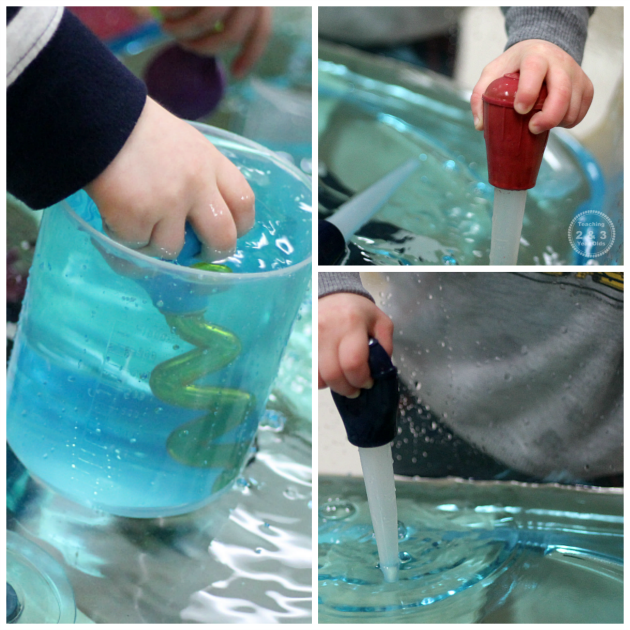 Looking for a fun way to strengthen toddler fine motor skills? Here's a fun water