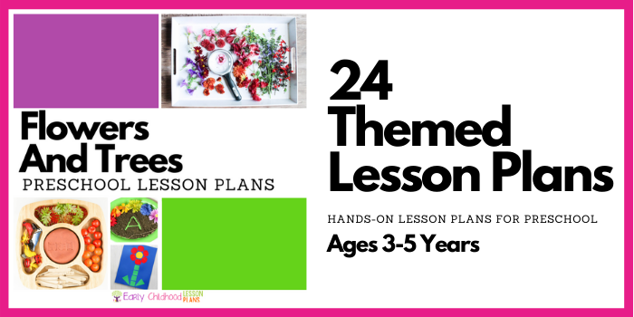 preschool lesson plans flowers and trees
