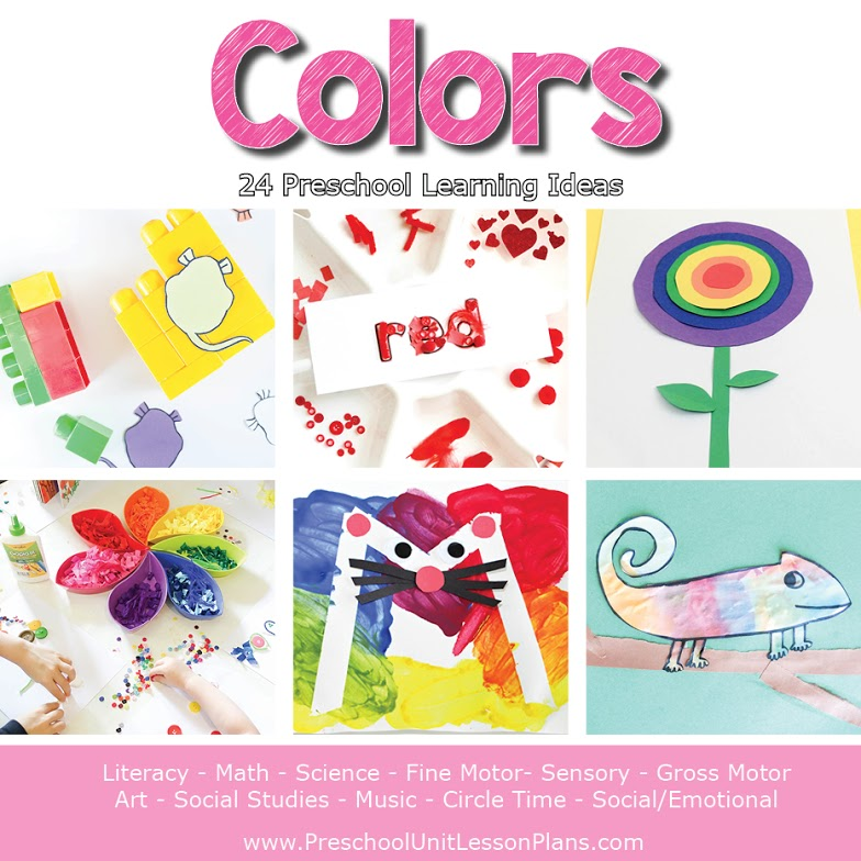 preschool colors lesson plans