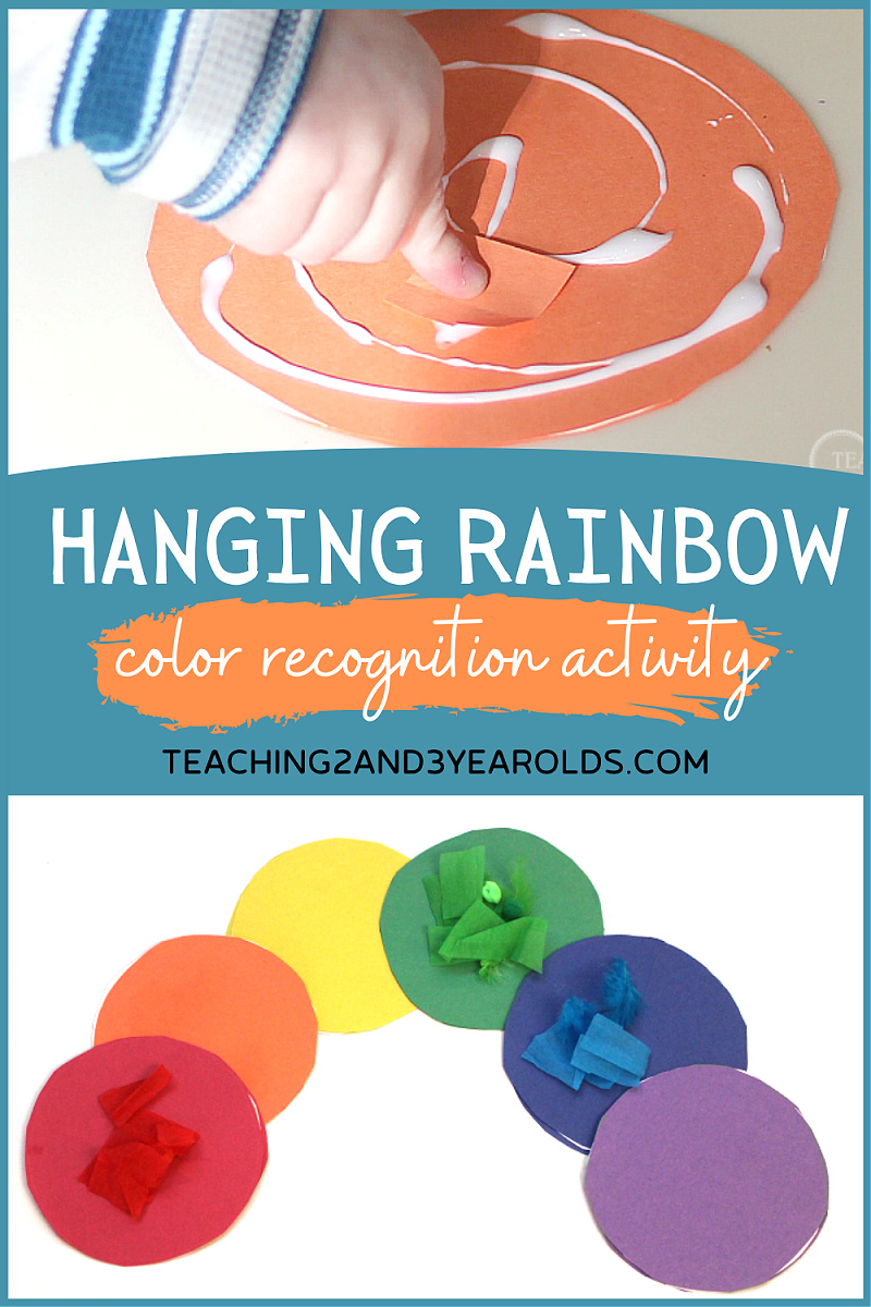 Hanging Rainbow Art Activity for Toddlers