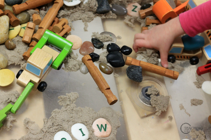 Fun Alphabet Recognition Sensory Bin