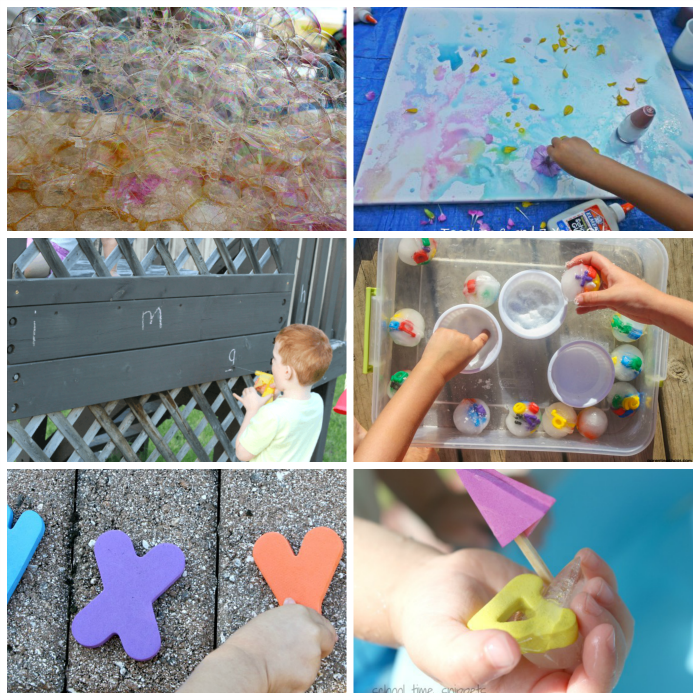 preschool learning outdoors