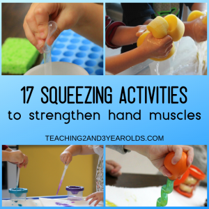 17+ of the Best Preschool Fine Motor Activities that Involve Squeezing