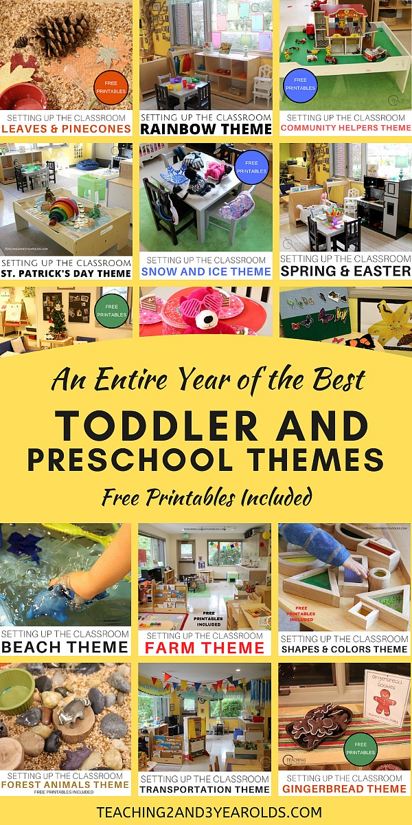 A Year S Worth Of The Best Toddler And Preschool Themes