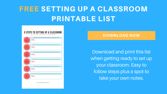 setting up the classroom free printable