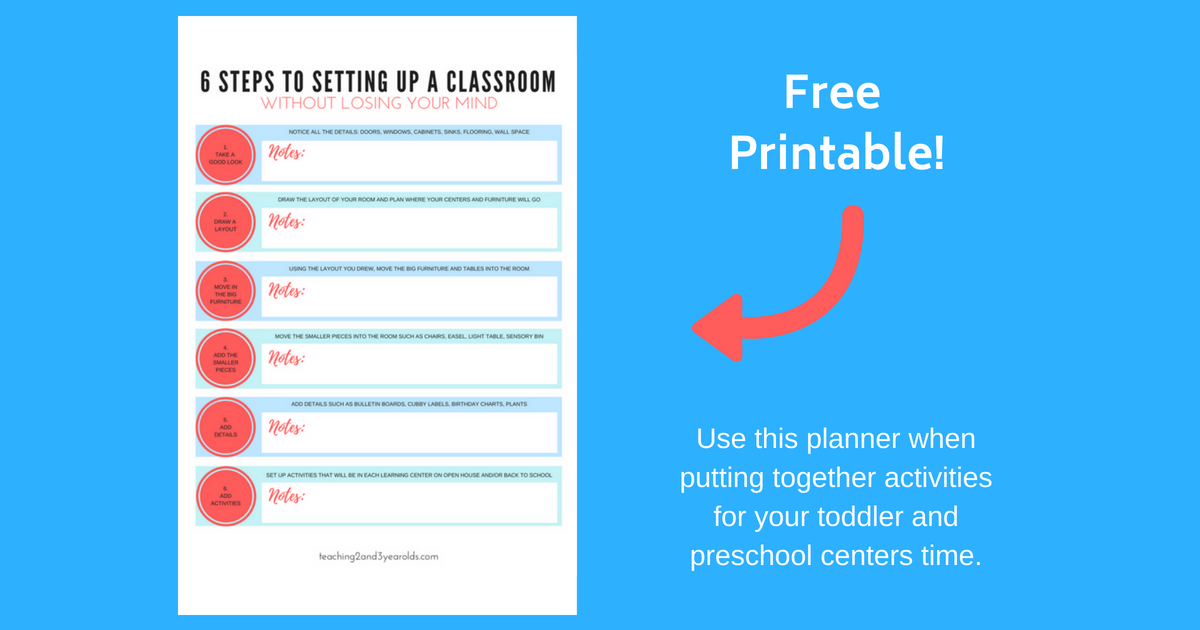 6 steps to setting up a classroom without losing your mind  free printable