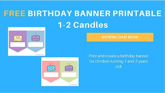 birthday banner printable