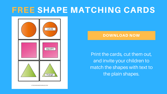 free shape matching printables