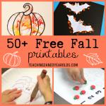 50+ Free Fall Printables Preschoolers Love