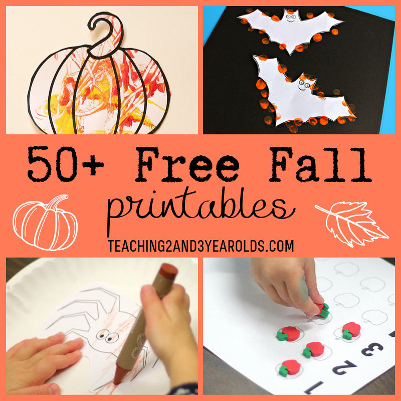 50+ Free Fall Printables Toddlers And Preschoolers Love