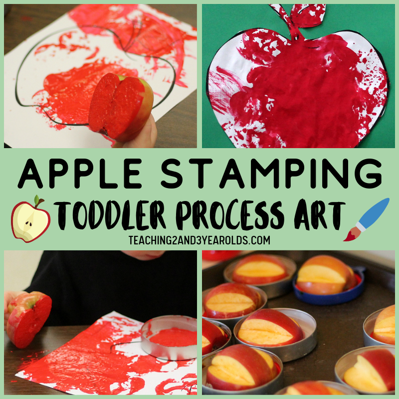 How to Put Together a Toddler Apple Activity with Lots of Action