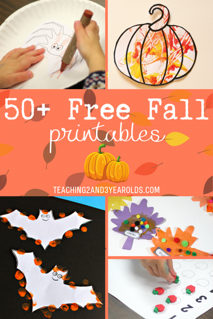 50+ Free Fall Printables Preschoolers Love
