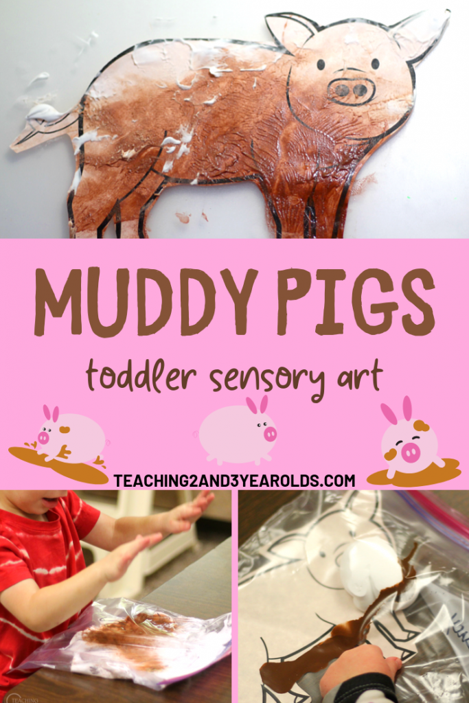 Awesome Muddy Pig Sensory Art for Toddlers (Free Printable)