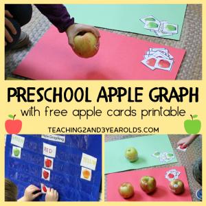Preschool Apple Math Activity