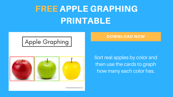 image relating to Apples to Apples Cards Printable referred to as Preschool Apple Math Video game (No cost Printable)