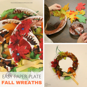 How to Make a Super Easy Fall Wreath with Toddlers and Preschoolers