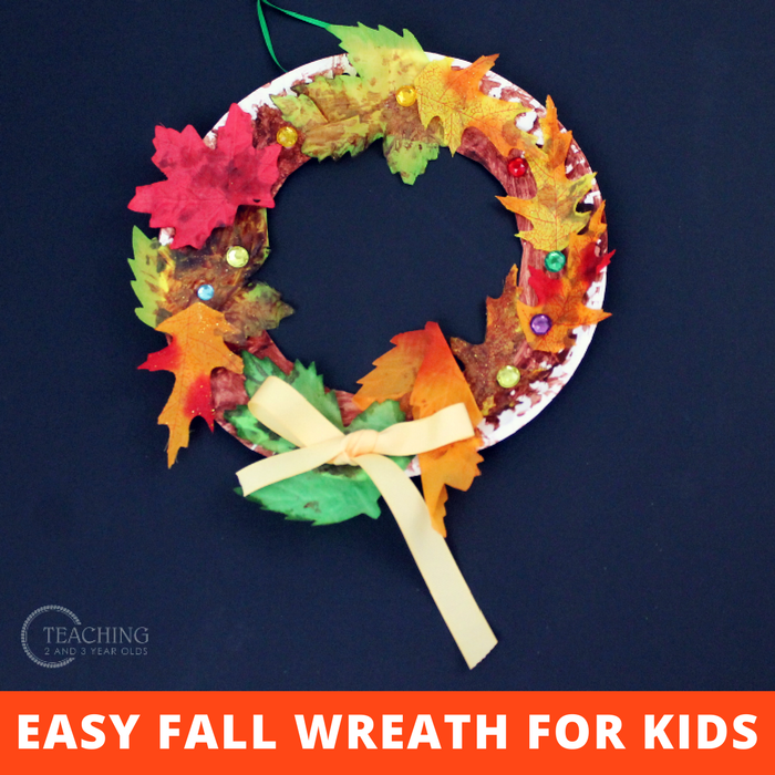 How To Make A Super Easy Fall Wreath With Toddlers And
