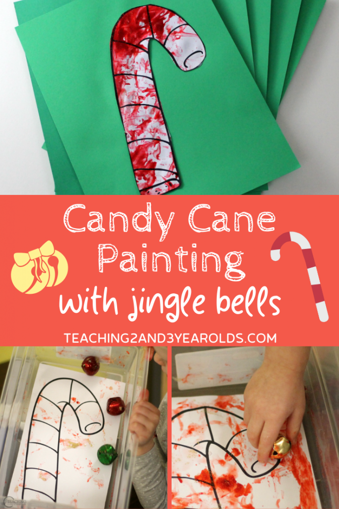 Easy Candy Cane Craft Using Jingle Bells {Printable Included}