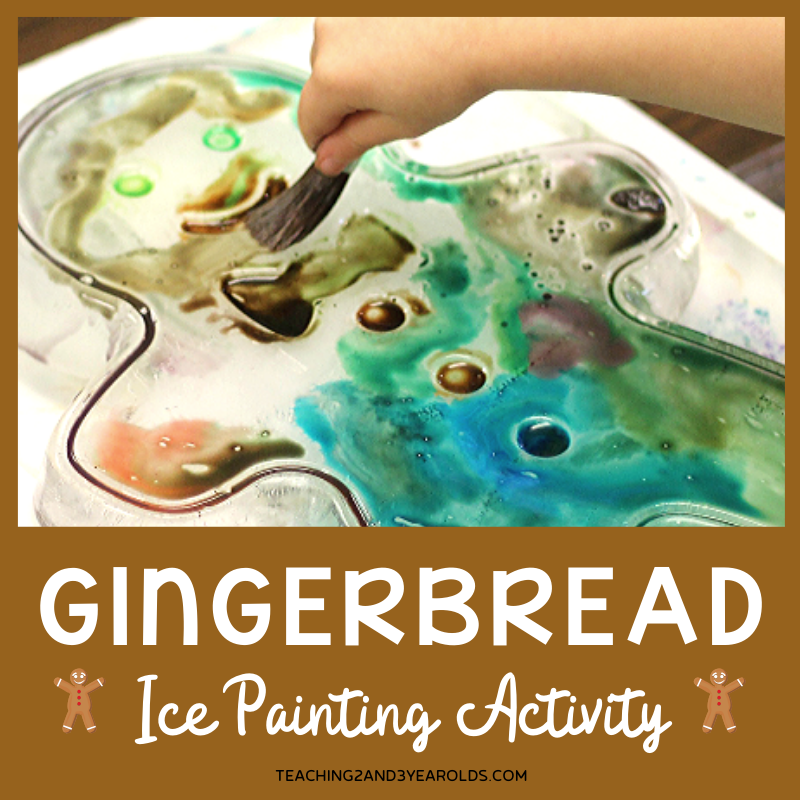gingerbread man painting