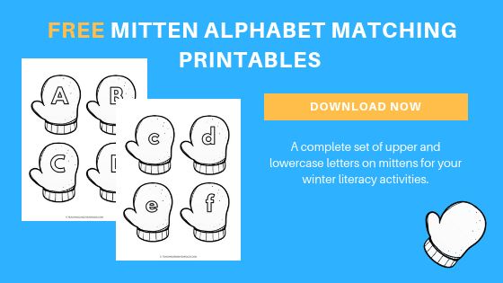free preschool winter mittens alphabet printable