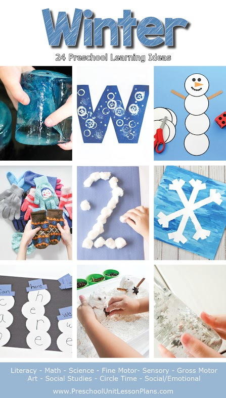 Winter Preschool Lesson Plans for Teachers and Homeschoolers