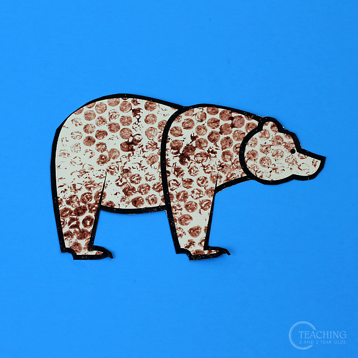 Winter Bear Art for Toddlers