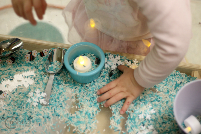 How to Build Fine Motor Skills with a Winter Sensory Bin