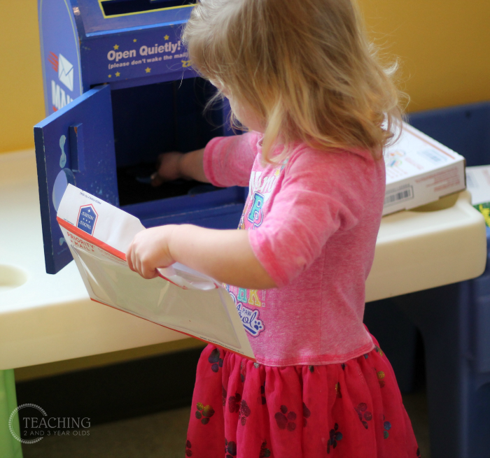 Post Office Dramatic Play for Toddler and Preschoolers