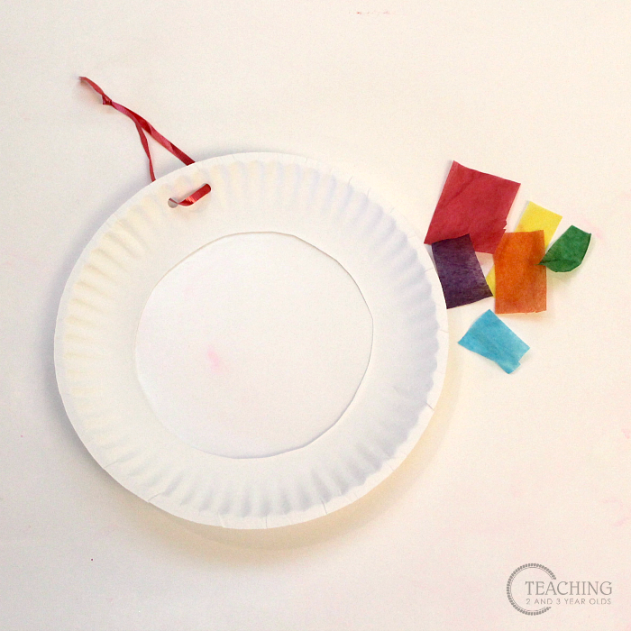 How to create toddler rainbow art with vibrant suncatchers