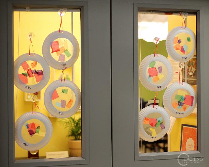 How to create toddler rainbow art with vibrant suncatchers