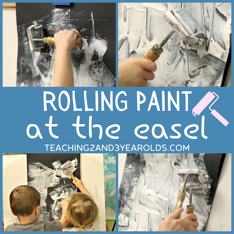 toddler easel activity