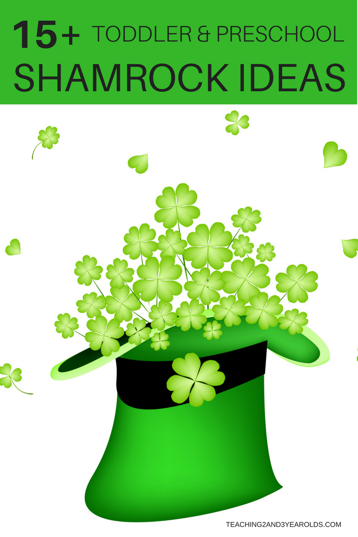 Over 15 St. Patrick's Day activities that involve shamrocks. Toddlers and preschoolers will love these hands-on ideas that include art, math, and fine motor!