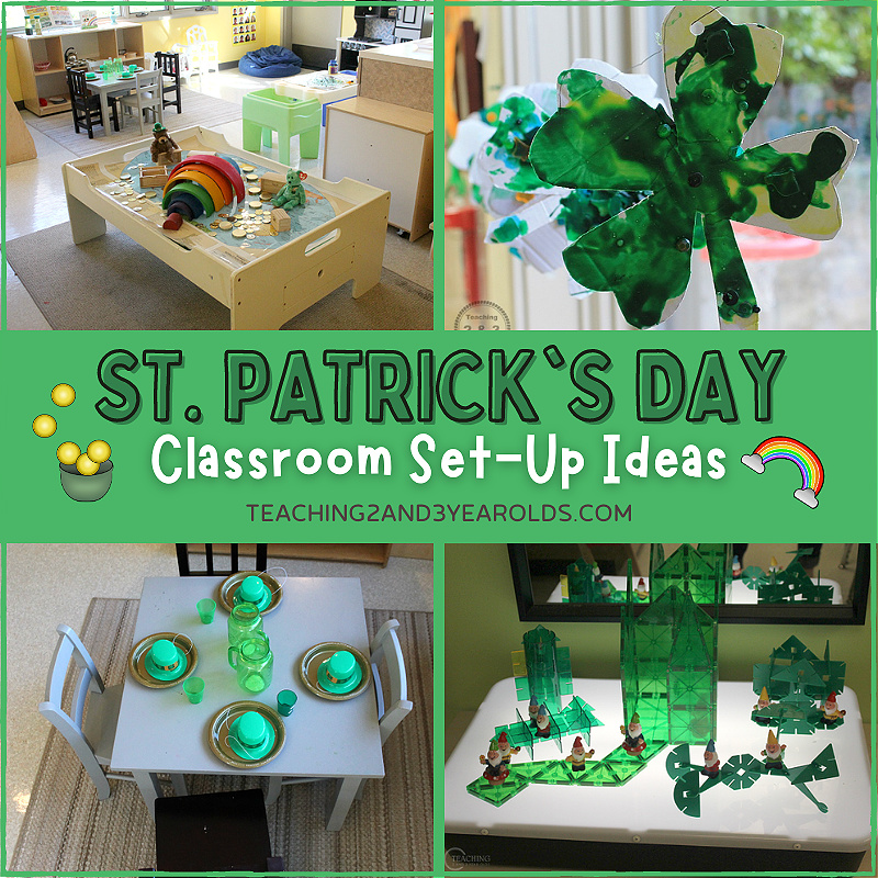 Setting Up the Classroom for the St. Patrick's Day Theme