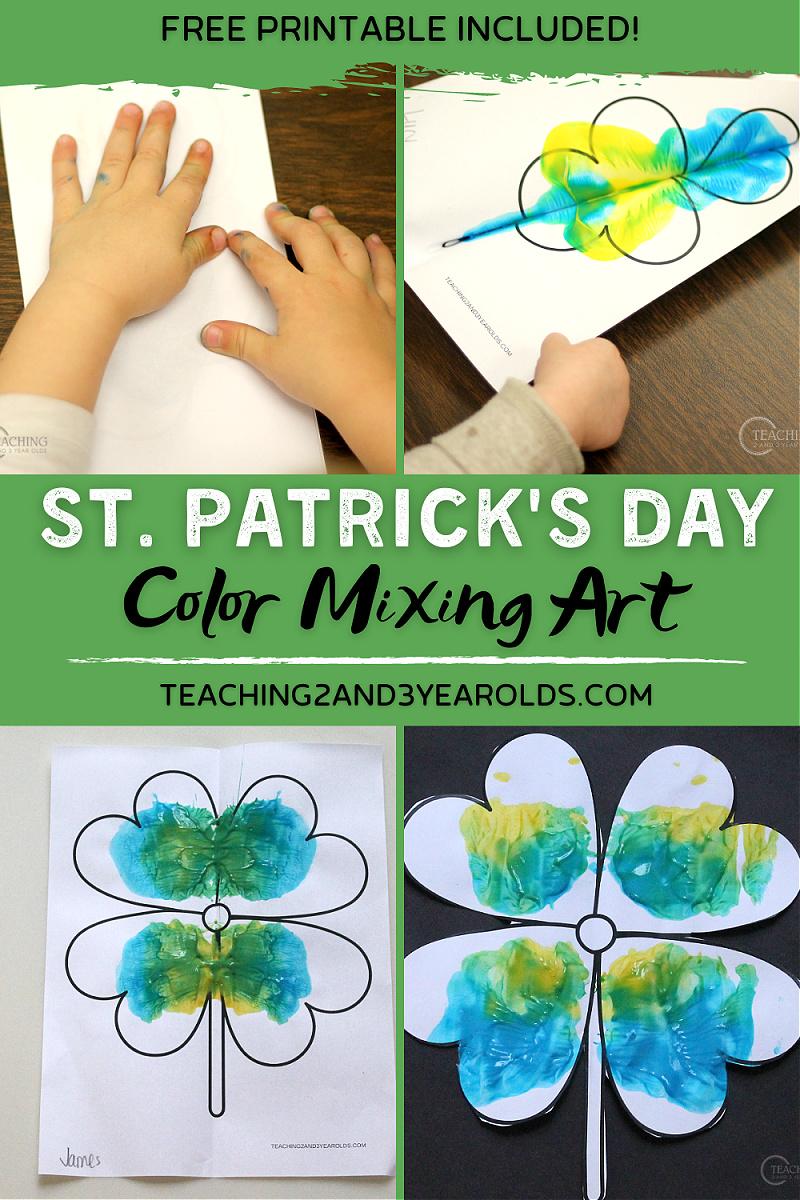 St. Patrick's Day Toddler Art