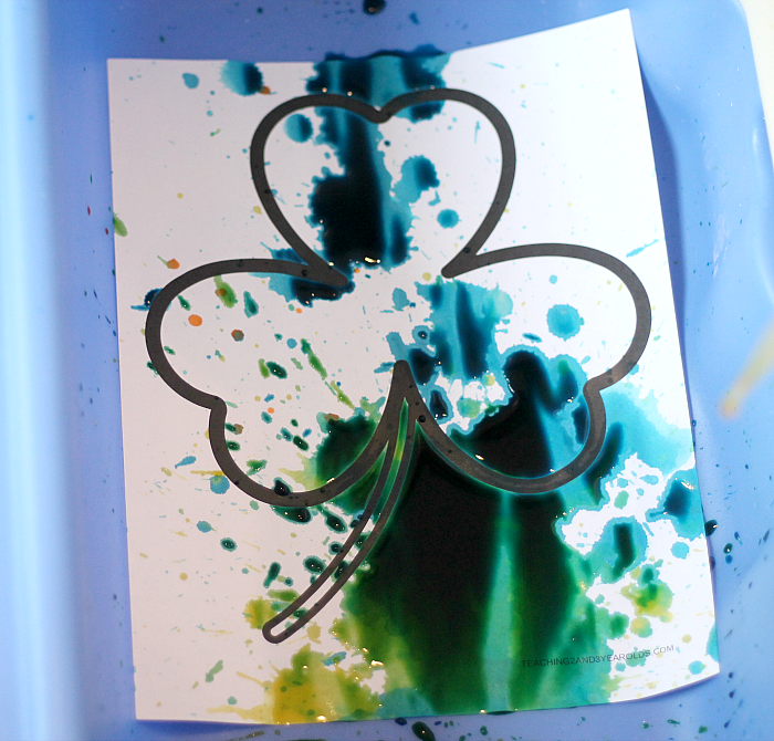 Fine Motor Shamrock Art for Toddlers and Preschoolers