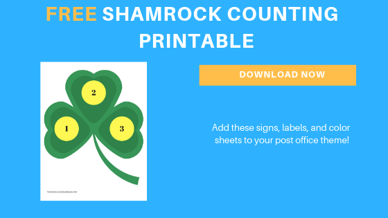 free toddler shamrock counting printable