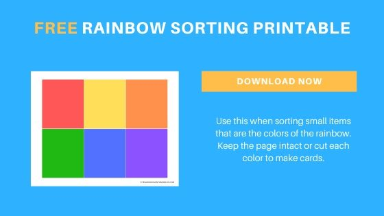rainbow color sorting printable