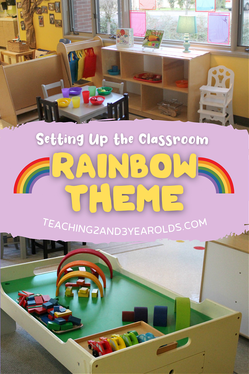 Toddler and Preschool Rainbow Theme Classroom Ideas