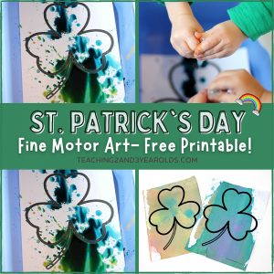 Fine Motor Shamrock Art {with Free Printable}