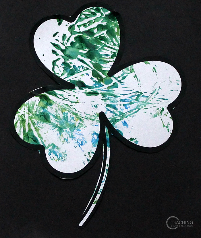 st. patrick's day art for toddlers that builds fine motor skills