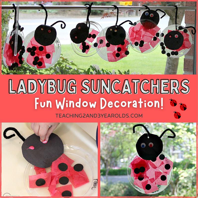 suncatcher ladybug craft