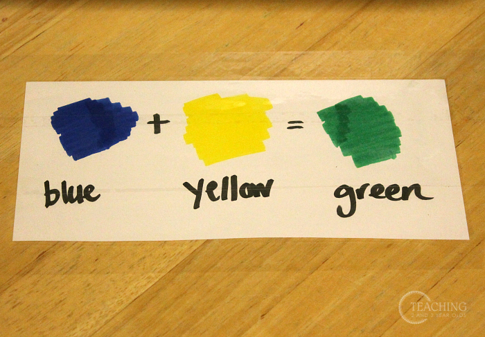 How to add a simple preschool color mixing activity that is simple and fun