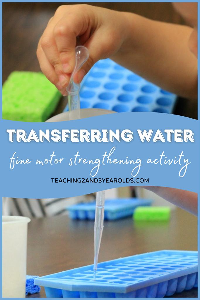 preschool fine motor activity with water