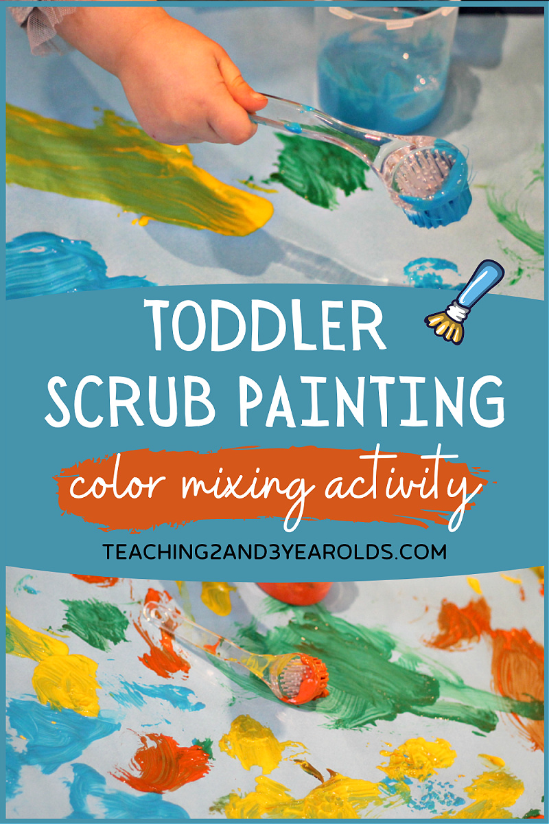 toddler painting activity