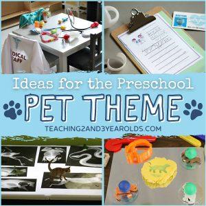 preschool pet theme