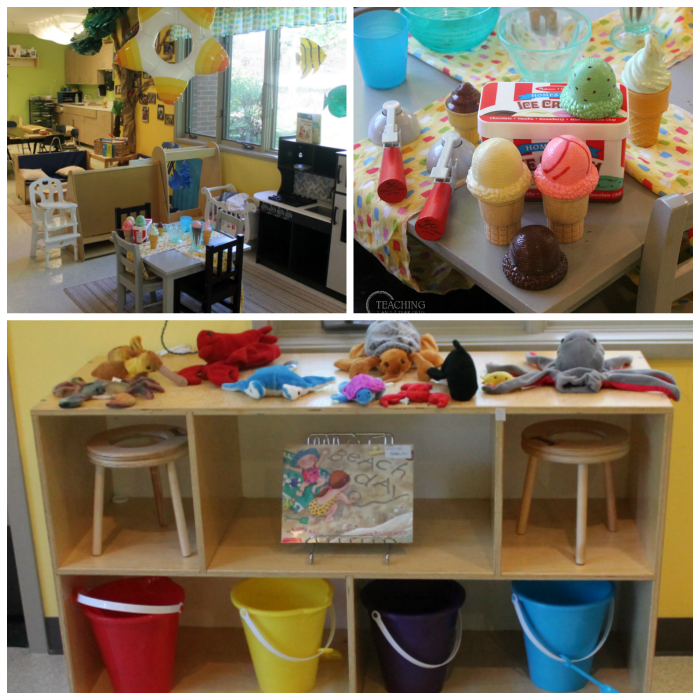 Setting Up the Beach Theme in the Toddler and Preschool Classroom